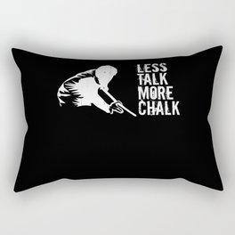 Less Talk More Chalk Funny Pool Billiard Player Rectangular Pillow