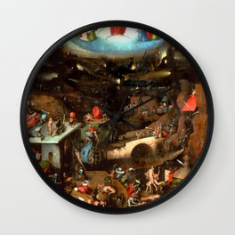 "Hieronymus Bosch ""The Last Judgement"" triptych (Vienna) central panel Wall Clock"