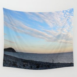 Watercolor People in Nature, NSS, Photography 02, Cape Breton, Nova Scotia, Canada Wall Tapestry