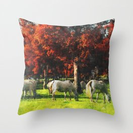 White Horse Lipizaners - Slovenia Throw Pillow