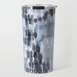 Blue Tie-Dye Squares Travel Mug