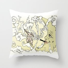 Moon rabbit Throw Pillow