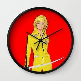 Kill Bill! Funny Barbie Art! Film Art! Wall Clock