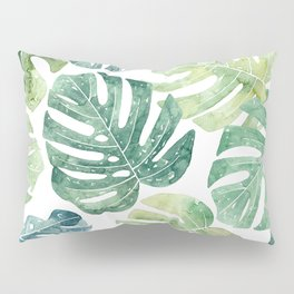 Tropical leaves Monstera leaves Jungle leaves Palm leaves Pillow Sham