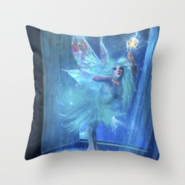 The Blue Fairy Throw Pillow