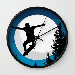 The perfect ollie trick Wall Clock