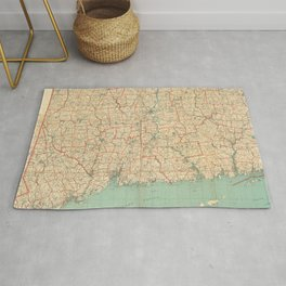 Vintage Map of Connecticut (1823) Rug