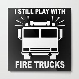 Fire Engine Fire Engine Fireman Metal Print