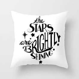The Stars are Brightly Shining Throw Pillow