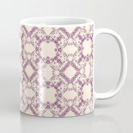 Blush Victorian Lace Pattern Coffee Mug