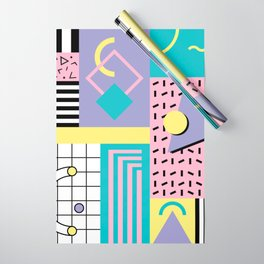 Memphis Pattern 27 - 80s - 90s Retro / 1st year anniversary design Wrapping Paper