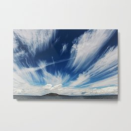 Sky and Clouds at Lake Titicaca Peru - Bolivia in the Andes Mountains Photograph Metal Print