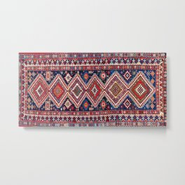 Kuba Antique East Caucasus Carpet Print Metal Print
