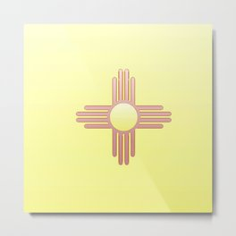 Flag of new mexico  -with color gradient Metal Print