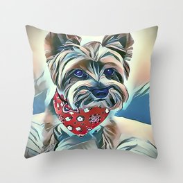 Australian Silky Terrier Throw Pillow