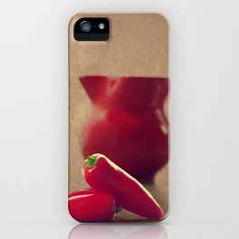 Hot red Pepper in still life iPhone Case