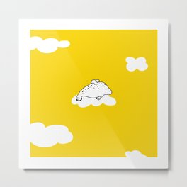 Flying Manatee by Amanda Jones Metal Print