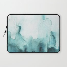 Soft teal abstract watercolor Laptop Sleeve