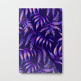 Brooklyn Forest - Purple Metal Print