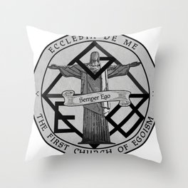 Lies and Hatred - Church of Egoism Throw Pillow