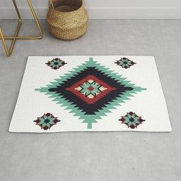 Southwest Santa Fe Geometric Tribal Indian Pattern Rug