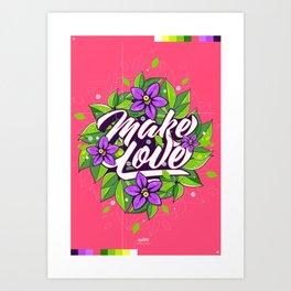 Make Love - Flume Art Print