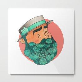Barbaturquoise Metal Print
