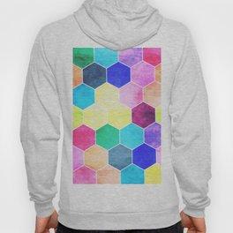 Honeycombs print, colorful hexagons Hoody