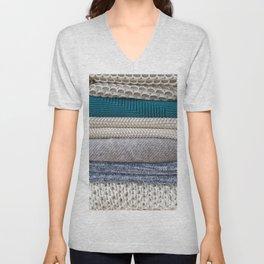 Sweater Texture Unisex V-Neck