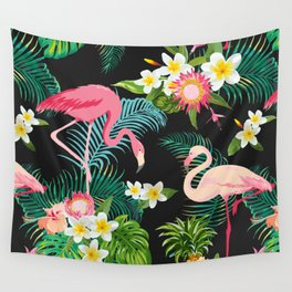 Flamingo Dance Wall Tapestry