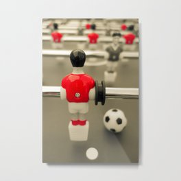Table Football 01A - Defender | Red Metal Print