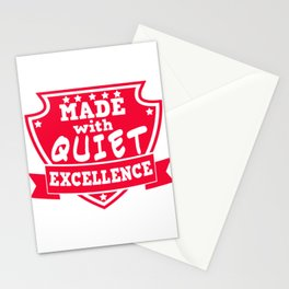 Empowerment Excellence Tshirt Design QUIET EXCELLENCCE Stationery Cards
