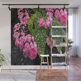 ANGEL WING PINK  BEGONIA FLOWERS Wall Mural