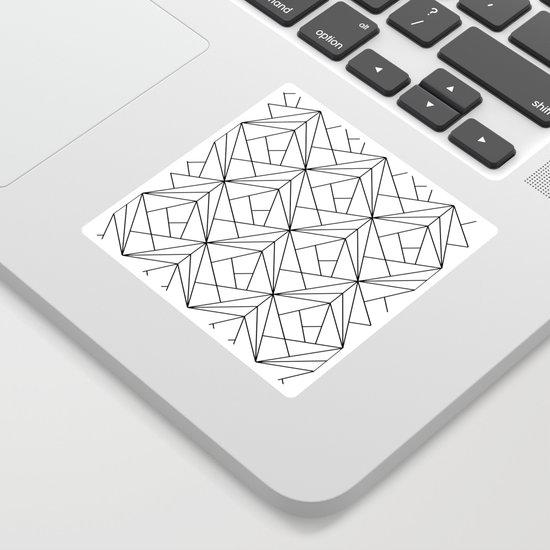Black and White Geometric Pattern by victorys