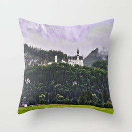 Castle Neuschwanstein Germany Throw Pillow