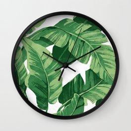Tropical banana leaves IV Wall Clock