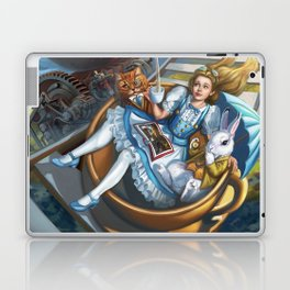 Steampunk Alice in Wonderland Teacups Laptop & iPad Skin