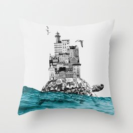 That harbour exists II Throw Pillow