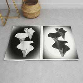 Calla Lillies. Black + White. Rug