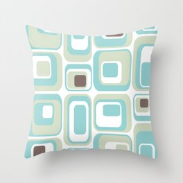 Retro Rectangles Mid Century Modern Geometric Vintage Style Throw Pillow