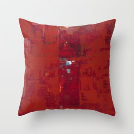 Red Solomon Throw Pillow