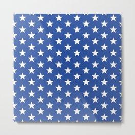 Superstars White on Blue Medium Metal Print