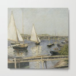 Gustave Caillebotte - Sailing Boats at Argenteuil Metal Print