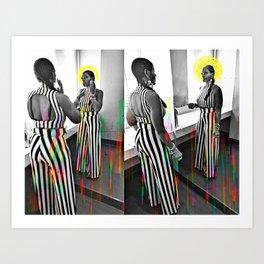 CareFreeBlackWoman Art Print