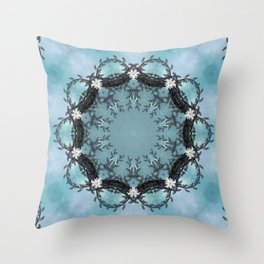 Princess Wreath Up Close No Infinity Throw Pillow