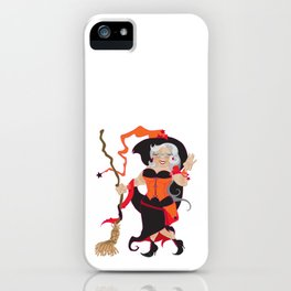 Granny Hex (Orange) iPhone Case