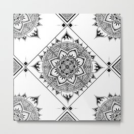 Mandala Quartier Metal Print
