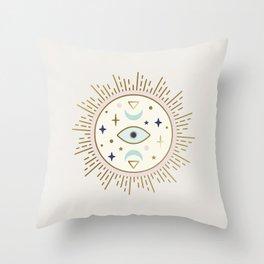 Magical Sun - tarot illustration Throw Pillow