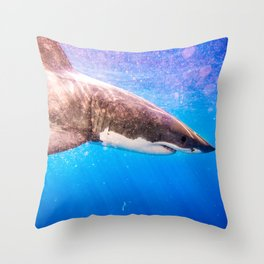 GreatWhiteShark-7 Throw Pillow