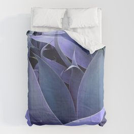 Abstract Leaves Periwinkle Teal Comforters